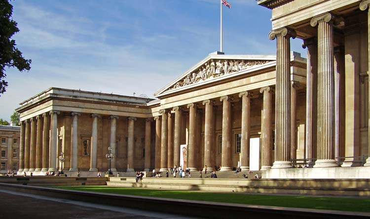 British Museum building in London - Russell Square