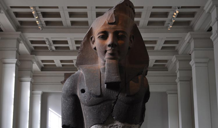 Bust of the Pharaoh Ramesses II - Younger Memnon colossal figure - British Museum - Egyptian sculpture