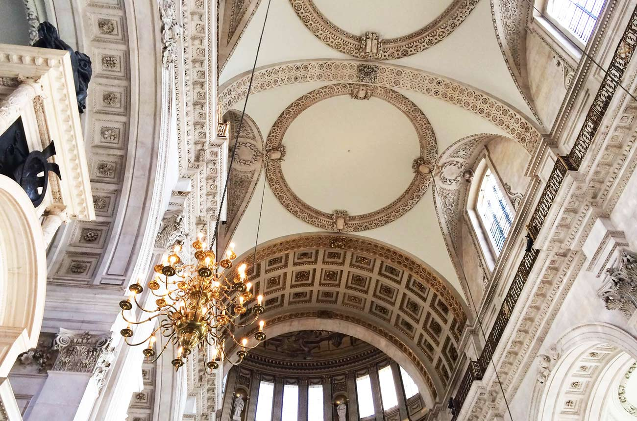 Nave & Dome of St Paul Cathedral - London
