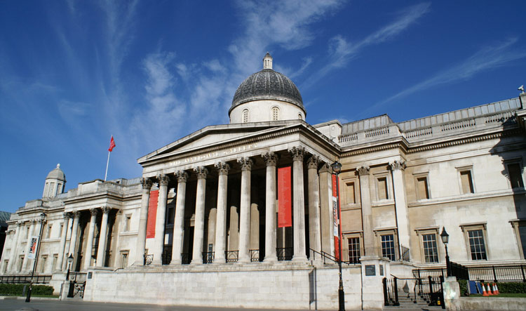 Building of the National Gallery Museum in London