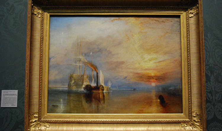 The Fighting Temeraire by Joseph Mallord William Turner - National Gallery in London