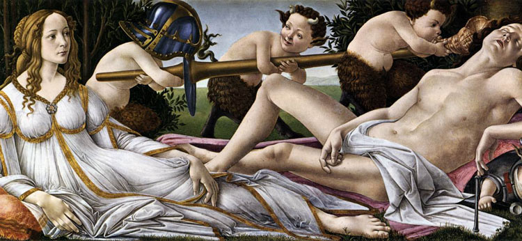 Venus and Mars by Sandro Botticelli - National Gallery in London