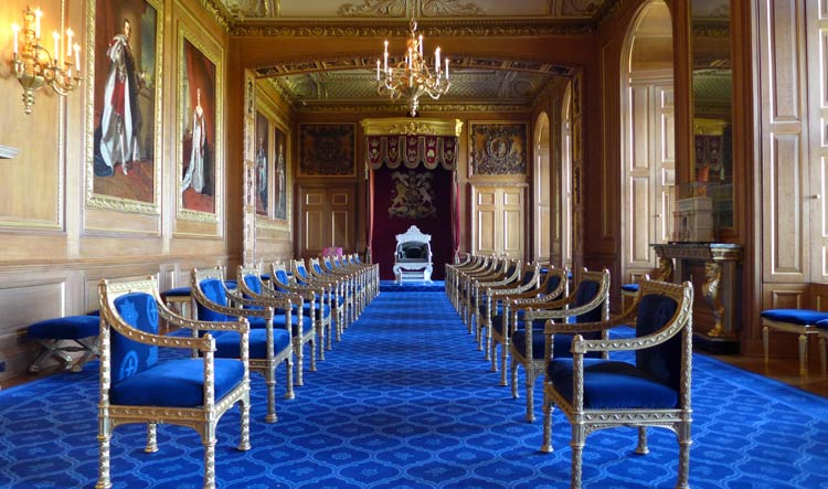 The Garter Throne Room - Windsor Castle