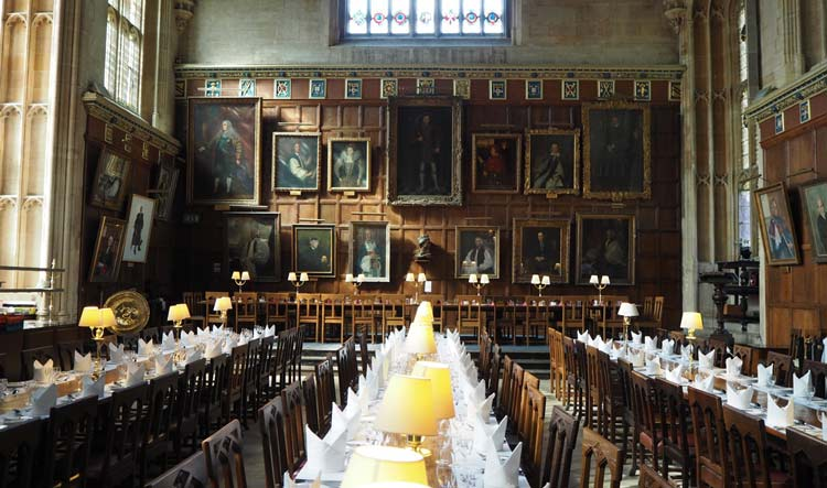 Christ Church Dining Hall in Oxford