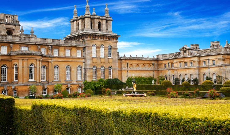 View of the Castle and its gardens - Blenheim Castle